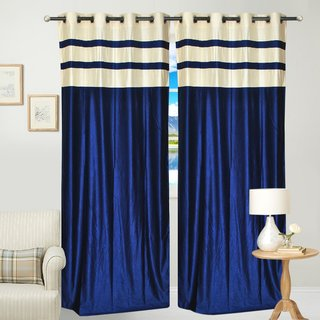 Fresh From Loom  Plain Eyelet Curtain Set of 1