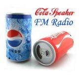 Coca Cola  Can Shape MP3 Player Multimedia  Speaker Boom Box FM/TFCard Slot/ USB