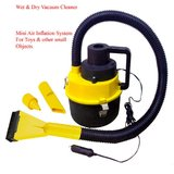 Car Vaccum Vacuum Cleaner Wet / Dry 12V Canister Cum Air Inflator Pump For Toys