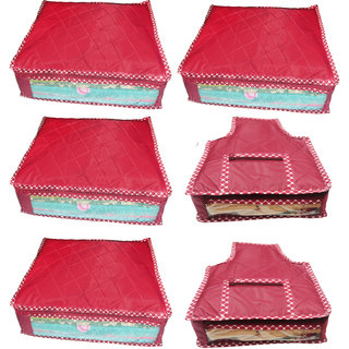 Combo deal-Multipurpose 4Pcs Saree Cover And 2Pcs Blouse Cover