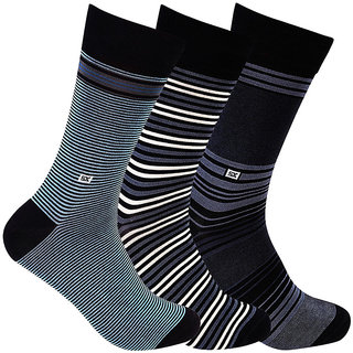Supersox Mens Pack Of 3 Stripes Mercerized Cotton Socks (MMCD0049)