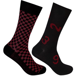 Supersox Mens Pack Of 2 Party Wear Mercerized Cotton Socks (MMCD0069)