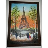 Eiffel Tower Painting With 3D Effects