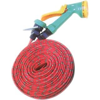 Garden Bike Car wash Pipe Flat Hose Water Gun Spray For Car, Pet Bath available at ShopClues for Rs.185