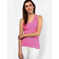 Light/Dark Stripes Sleeveless top