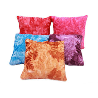 Fresh From Loom Embossed Cushion Cover-Set of 5