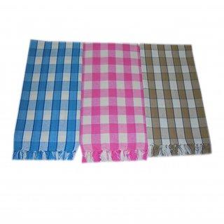 Tidy Multi Colour Cotton Bath Towel - Set of 3Pcs