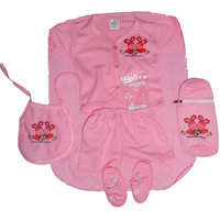 Light Pink New Born Baby Gift Set  Combo Pack of 7 piece for Boys n Girl