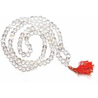 8mm 100% Original Sphatik (Quartz Crystal) Mala Roasary 108+1 Bead
