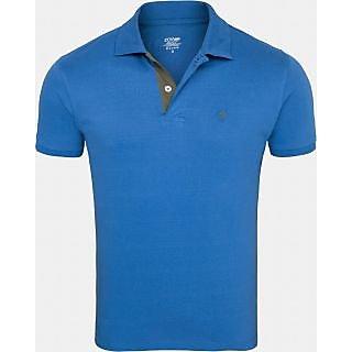 Striped Men's Collar Neck T-Shirt