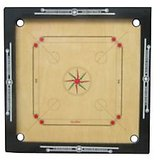 "Zenith 3""heavy Border Wooden Carrom Board With Free Wooden Coins+striker+powder"