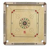 Zenith Wooden Carrom Board With Free Wooden Coins + Striker + Powder