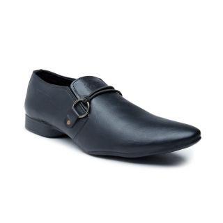 Foot n Style Mens Black Slip On Formal Shoes