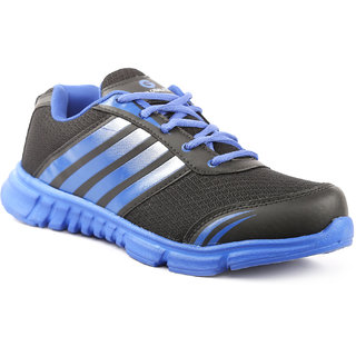 4a584ff76f0 Globalite Mens Sports Shoes Desperado Black Blue GSC1005 available at  ShopClues for Rs.329