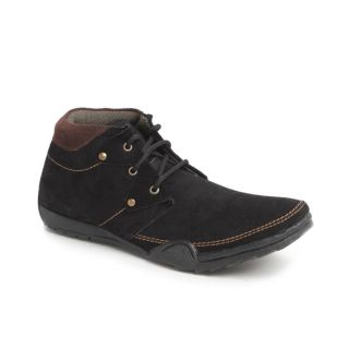Foot 'n' Style Black Ankle Length Boots (fs131)