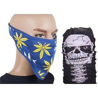Jstarmart Blue Face Mask With Bandana JSMFHFM0293