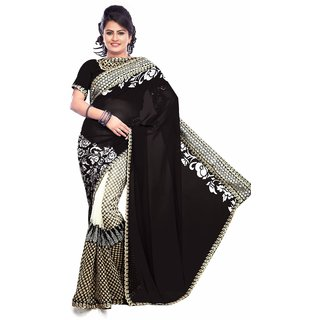 Well-Formed Piggy Chops Indian Ethnic Bollywood Saree, Fancy Stylish Designer Saree