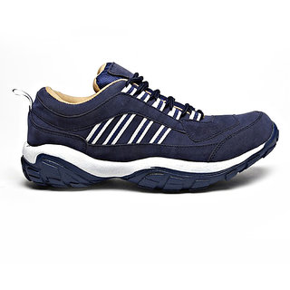Foot n Style Mens Blue & White Lace-up Smart Casuals Shoes