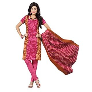 DRAPES Womens Cotton Multi Printed dress material with cotton duppatta DF0252