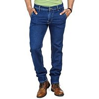 Blue Mid Rise Jeans For Mens