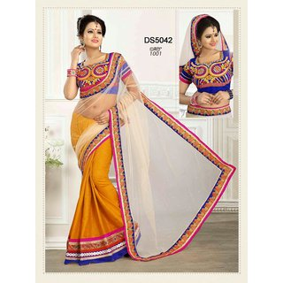 Fancy Chiffon and Net Designer Saree