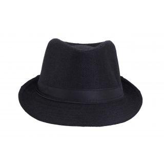 FabSeasons Mens Fedora Hat HM16black