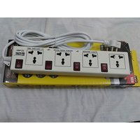 Surge Protector 4 Socket Individual Switch Power Extension Cord 2.5 Mtr 10 AMP ( Spike Guard ) 100% Premium Quality
