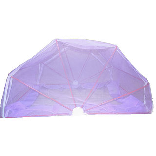 ans mosquito net king size bed purple