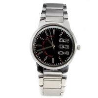 Fidato Round Dial Silver Metal Strap Quartz Watch For Men