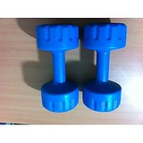 3 KG PVC RUBBER DUMBELLS SETS, 3 KG X 2 NO