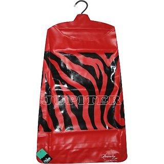 Strong Durable Multipurpose Designer Hanging Laundry bag - Zebra Red