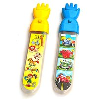 Magic Hand Pencil Box - Blue & Yellow For Kids By Buddyz