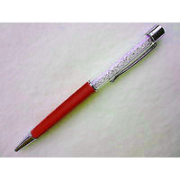 P-17 White Crystal Oem Lady Laser Engraved Red Ballpoint Pen