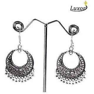 Luxor Elegant Round Shape Oxidised Silver Earring 1027