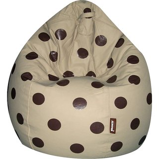 Jupiter XXXL- Premium Leatherette Bean Bag -SPOTTY FAWN- Cover Only