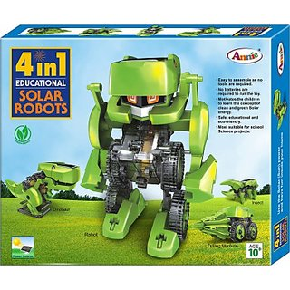 Solar Powered Dinosaur / Robot / Insect / Car Educational Kit Model DIY 4 In 1