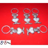 KEY CHAIN RING CAR LOGO STAINLESS STEEL