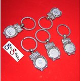 STAINLESS STEEL KEY CHAIN RING CAR LOGO