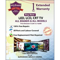 InfyShield Extended Warranty for 1 Year on LED,LCD,CRT TV Priced Between Rs. 5,000- to Rs. 10,000