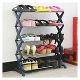 5 Layer Foldable Steel Shoe Rack Upto 16 Pairs