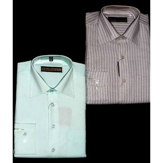 Success Cotton Mens Formal Shirt Combo Pack Of 2 -Size M