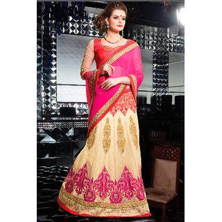 Enticing Pink Colored Stylish Chiffon Saree