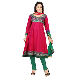 Florence Pink RAGINI Embroidered Cotton Suit (SB-1769-APR)