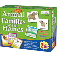 Animal Families & Their Homes (2 In 1)