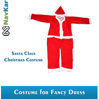 Christmas Party Wear Santa Claus Costume For Kids Medium Size 3 Years
