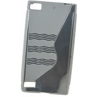 Totta S-line Silicone Back Case Cover For BlackBerry Z3  BLACK