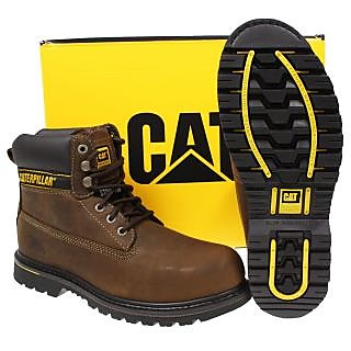 New 100% Genuine Caterpillar Mens Safety Work Shoe Boot Steel  Toe Holton 8 size available at ShopClues for Rs.6800
