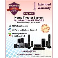 InfyShield Extended Warranty for 1 Year on Home Theater Priced Between 5,000- to 10,000
