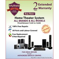 InfyShield Extended Warranty for 2 Years on Home Theater Priced Between 5,000- to 10,000-