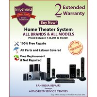 InfyShield Extended Warranty for 2 Years on Home Theater Priced Between 35,000- to 50,000-